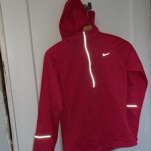 Nike Dri-fit pink sweatshirt with thumbholes Small